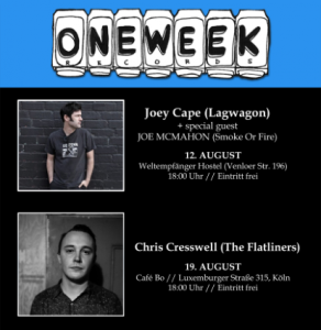 ONE WEEK RECORDS Showcases