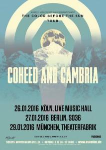 COHEED & CAMBRIA - Drei Shows in Deutschland!