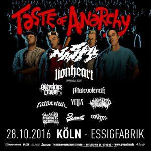 Konzertbericht - TASTE OF ANARCHY 2016 feat. Nasty, Lionheart, Aversions Crown, Malevolence uvm. - (28.10.2018, Köln, Essig-Fabrik) - SMASH-MAG.com 2016