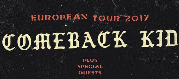 COMEBACK KID kündigen Europa-Tournee an!